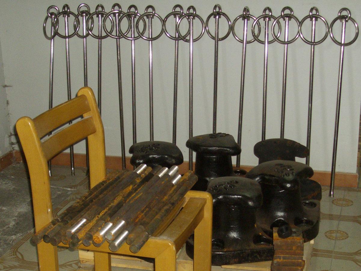 Bitte in ghisa e anelli di banchina in acciaio inox